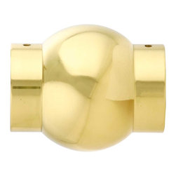"""Renovators Supply - Bar Hardware Polished Solid Brass Fit 2"""" Tube Ball Joint - Elbows & Connectors: Create a stylish railing system with our wide selection of elbows & connectors. This Ball Joint connector provides a BALL mount look to your brass railing. Made of 100% solid brass this connector has a tarnish-resistant powder coated RSF finish which is maintenance-FREE & protects up to 20 times longer than regular lacquers."""