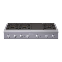 """Thermador Professional Series 48"""" Gas Rangetop, Stainless Steel 