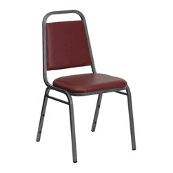 Flash Furniture - Flash Furniture Banquet Stack Chairs Banquet Stack Chairs X-GG-LYV-YB-2-FHB-DF - This is one tough chair that will withstand the rigors of time. With a frame that will hold in excess of 500 lbs., the HERCULES Series Banquet Chair is one of the strongest banquet chairs on the market. You can make use of banquet chairs for many kinds of occasions. This banquet chair can be used in Church, Banquet Halls, Wedding Ceremonies, Training Rooms, Conference Meetings, Hotels, Conventions, Schools and any other gathering for practical seating arrangements. The banquet chair is also great for home usage from small to large gatherings. For any environment that you use a banquet chair it will put your guests at a greater comfort level with the padded seat and back. Another advantage is the stacking capability that allows you to move the chairs out of the way when not in use. With offerings of comfort and durability, you can be assured that you can enjoy this stacking banquet chair for years to come. [FD-BHF-2-BY-VYL-GG]