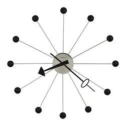 Howard Miller - Howard Miller 42-Inch Retro Oversize Wall Clock, Ball Clock II - 625527 Ball Clock II