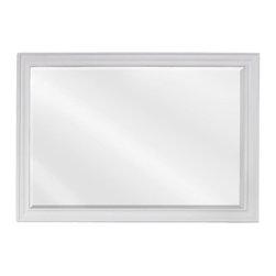 "Hardware Resources - Elements Douglas Mirror in White (MIR094D) - 42"" x 28"" White mirror with beveled glass"