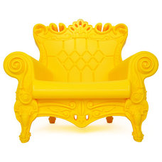 Eclectic Outdoor Lounge Chairs Design of Love Queen of Love, Yellow Passion