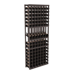 Wine Racks America - 7 Column Display Row Wine Cellar Kit in Pine, Black + Satin Finish - Display rows allow presentation of favored and coveted labels. Your best vintages will greet onlookers in style. All the edges of our products are softened to ensure you won't get nicks or splinters, like you will from budget brands. You'll be satisfied. We guarantee it.