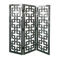 Hollywood Geometric Mirror Screen - Hollywood Geometric Mirror Screen 19.5 x 1.5 x 69