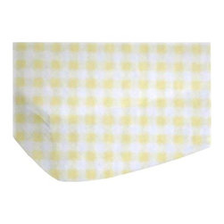 """SheetWorld - Fitted Oval Crib Sheet (Stokke Sleepi) - Yellow Gingham Jersey - Made in USA - This luxurious plush 100% cotton """"jersey knit"""" oval crib (stokke sleepi) sheet is what your baby deserves to sleep on. Our sheets are made of the highest quality fabric that's measured at 150 gsm (grams per square meter). That means these are softer than your favorite t-shirt, and as soft as flannel. Sheets are made with deep pockets and are elasticized around the entire edge which prevents it from slipping off the mattress, thereby keeping your baby safe. These sheets are so durable that they will last all through your baby's growing years. We're called SheetWorld because we produce the highest grade sheets on the market today. Features a soft yellow & white 1/8"""" gingham check print. Size: 26 x 47."""