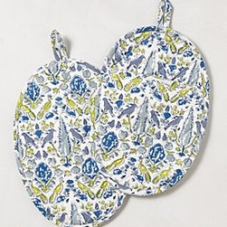 Anthropologie - Aviary Oven Mitts - *By Pomegranate