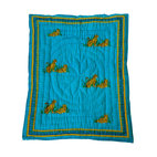 Baby Baazaar Inc. - Tiger Quilted Cotton Baby Blanket - Be a tiger mom and earn your stripes with this lovely, aqua-colored, quilted cotton baby blanket. Made in India, home to the Bengal tiger, this 100 percent cotton throw will bring fierceness and color to your baby nursery.