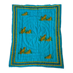 Tiger Quilted Cotton Baby Blanket