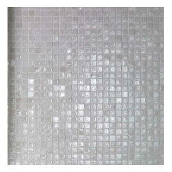 Casa Mood - Vetro Neutra Glass Mosaics, Bianco Lux, 1 Sheet/.97 Square Feet - Sold by the Sheet - .97 Square Feet Per Sheet