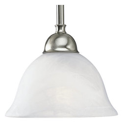 Progress Lighting - Progress Lighting P5068-09 Avalon Single Light Mini Pendant Brushed Nickel - Features: