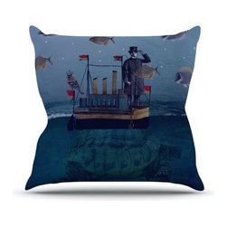 """Kess InHouse - Suzanne Carter """"The Voyage"""" Throw Pillow (Outdoor, 18"""" x 18"""") - Decorate your backyard, patio or even take it on a picnic with the Kess Inhouse outdoor throw pillow! Complete your backyard by adding unique artwork, patterns, illustrations and colors! Be the envy of your neighbors and friends with this long lasting outdoor artistic and innovative pillow. These pillows are printed on both sides for added pizzazz!"""
