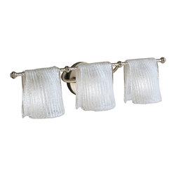 Kichler Lighting - Kichler Lighting 6313NI Drapes 3 Light Bathroom Vanity Lights in Brushed Nickel - Bath Strip 3Lt