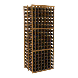 Wine Racks America - 7 Column Double Deep Cellar in Redwood, Oak - This Double Deep kit is an efficient wine rack that stores 21 cases of wine in one spot. Ideal for restaurants, bars, liquor stores and private collections. Great as a cellar starting kit or as an expansion, our modular design improves flexibility without sacrificing quality. We guarantee that you will love our wine racks.