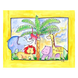 Oh How Cute Kids by Serena Bowman - Wild Things, Ready To Hang Canvas Kid's Wall Decor, 11 X 14 - The wild things are here!