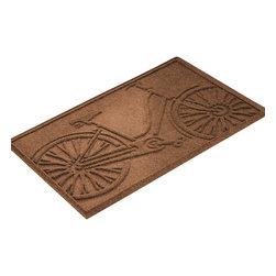 Bungalow Flooring - Aqua Shield 2'x3' Bicycle Mat, Dark Brown - Premium 24-oz. anti-static polypropylene mat traps dirt, water and mud