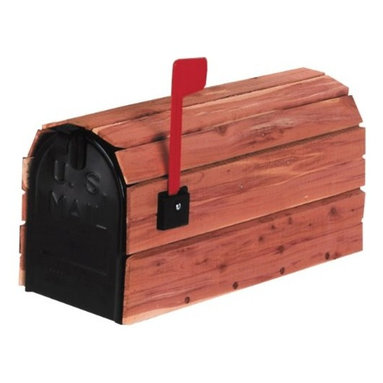 SOLAR GROUP - Mailbox Cedar Wrap Cedar - Standard size galvanized steel mailboxes housed in aromatic red cedar. Plastic flag kit is included. The wood weathers naturally over time, unless treated occasionally with a standard wood or deck sealer.