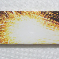 Custom Photo Factory - Daltile Bright Sparkling Firework Ceramic Wall Tiles, 3x6 Wall Tiles Pack of 20 - Pack of/Case of: 20 Tiles. Samples Available for purchase. All of our tiles are printed on white ceramic Daltile; the same high quality tiles found at the hardware store. Our ceramic tiles are permanent designs. They are scratch resistant and highly resistant to chemical wear and sunlight. As a matter of fact, our tiles will never fade, even in direct sunlight, 24 hours a day. The only way to damage the print is to damage the tile itself by breaking it. For use in residential and commercial. Glazed glossy finish with a high sheen and uniform appearance in tone. Dimensions of tile: 3 inches x 6 inches or 4 inches x 4 inches (actual 4-1/4 in. x 4-1/4 in). Installation: Indoor and outdoor use on walls in your kitchen and bath and living area.