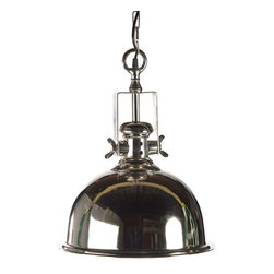 Ladonna Pn- Pendant Light - LaDonna Dome Pendant in Polished Nickel