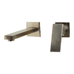 ALFI - ALFI Brushed Nickel Single Lever Wallmount Bathroom Faucet - Looking to upgrade the look of your bathroom? This square edged single lever faucet might just do the trick. Clean simple wallmount installation makes it more convenient than ever to spice up your bathroom d�cor and create a unique look.