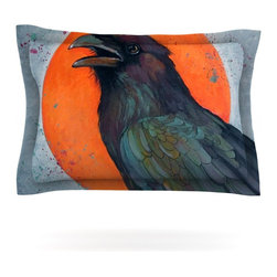 """Kess InHouse - Lydia Martin """"Raven Sun"""" Pillow Sham (Cotton, 30"""" x 20"""") - Pairing your already chic duvet cover with playful pillow shams is the perfect way to tie your bedroom together. There are endless possibilities to feed your artistic palette with these imaginative pillow shams. It will looks so elegant you won't want ruin the masterpiece you have created when you go to bed. Not only are these pillow shams nice to look at they are also made from a high quality cotton blend. They are so soft that they will elevate your sleep up to level that is beyond Cloud 9. We always print our goods with the highest quality printing process in order to maintain the integrity of the art that you are adeptly displaying. This means that you won't have to worry about your art fading or your sham loosing it's freshness."""