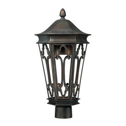 Capital Lighting - Capital Lighting 9445 Townsende 1 Light Outdoor Dark Sky Post Light - Capital Lighting 9445 Townsende 1 Light Outdoor Dark Sky Post LightWith a unique Dark Sky compliant design that casts light downwards into the ornately classic cage, this large lantern style outdoor post light will provide plenty of light and style to any outdoor location without causing unnecessary light pollution so we may all enjoy the night sky.Capital Lighting 9445 Features: