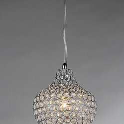 Warehouse of Tiffany - Kiss Crystal Chandelier - Add some elegance to your home with the Kiss crystal chandelier. This dynamic lighting element features generous rows of cascading crystals to catch the light.