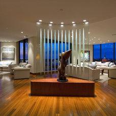 Modern Living Room by SRQ360 Photography