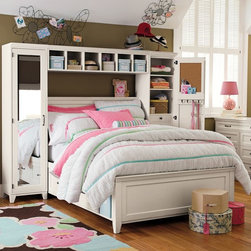 Hampton Storage Bed + Mirror Tower Set - Create stylish, organized storage that perfectly suits your space. Our Hampton bedroom set combines our high-quality Hampton bed with lots of cubbies and drawers, plus two full-length mirrors.
