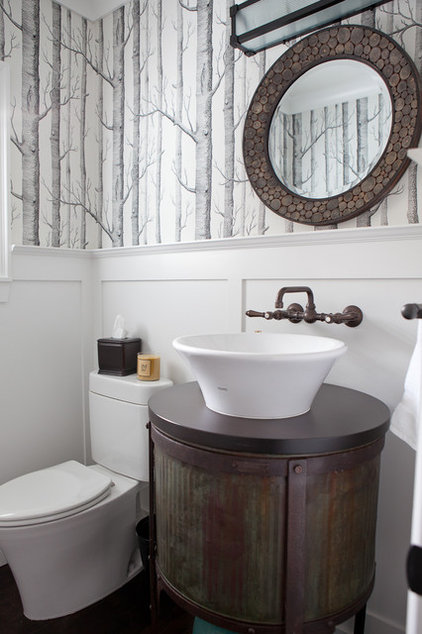 Modern Powder Room by Jenny Baines, Jennifer Baines Interiors