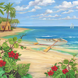 Murals Your Way - Plantation Key Rowboat Wall Art - Painted by Paul  Brent, the Plantation Key Rowboat wall mural from Murals Your Way will add a distinctive touch to any room