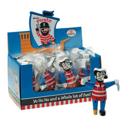 """The Original Toy Company - The Original Toy Company Kids Children Play Mini Pirate Display of 12 - Bend me, Shape me into various positions by moving my head, arms, and legs. 12 figures per display. 5"""" height of figure. Ages 3 years plus."""