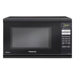 Panasonic - Panasonic 1.2 Cubic-Foot Microwave Family - Black - Panasonic NN-SN651B - Family Size. 1.2 Cu. Ft. 1200 Watts Cooking Power.  Flat Panel (membrane).  Black Door.  One-Touch Sensor Cooking (12 Categories).  One-Touch Sensor Reheat. Inverter Turbo Defrost.  4 Digit Display.  Keep Warm Setting.  Popcorn Key.  Quick Minute.  More / Less Control.  The Genius Collection.