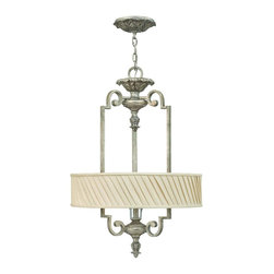 Fredrick Ramond - Fredrick Ramond FR42724SLF Kingsley Ceiling Pendant - French Country Ceiling Pendant in Silver Leaf from the Kingsley Collection by Fredrick Ramond.