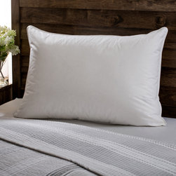 None - European Heritage Down Opulence Hypoallergenic Firm White Goose Down Pillow - This luxurious European white goose down pillow is guaranteed hypoallergenic through unique double wash and quadruple rinse process. The 300 thread count adds durability.