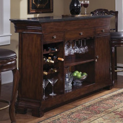 Pulaski - Accents Bar Cabinet with Foot Rail - Laminated granite top