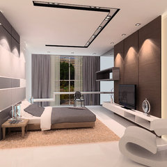 contemporary bedroom by senihomes