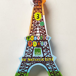 Nathalie Lete - Paris Puzzle - How fun is this? This Paris puzzle by Nathalie Lete is pretty enough to function as decor and fun enough to keep the kids busy.