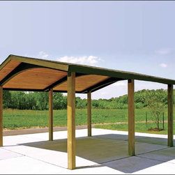 Fifthroom - 20' x 20' Wood Gable Rectangular Savannah Pavilion -