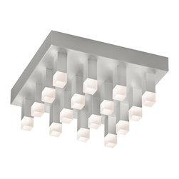 Sonneman - Sonneman 2122.16 Connetix Bright Satin Aluminum LED Flush Mount - Sonneman 2122.16 Connetix Bright Satin Aluminum LED Flush Mount