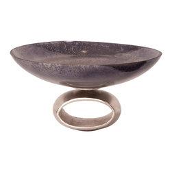 Howard Elliott - Howard Elliott Blue-Gray Antiqued Glass Bowl - Large blue-gray antiqued glass bowl