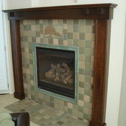 Fireplace Mantels and Surrounds - Craftsman Fireplace mantel