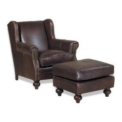 EuroLux Home - New Ottoman Wood Leather Nailhead Trim Not - Product Details