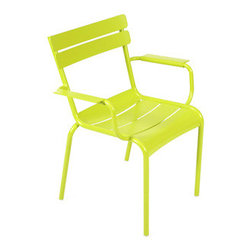 4102 Outdoor Armchair by Fermob - This bright and modern outdoor armchair will add big style to your patio, deck or porch.