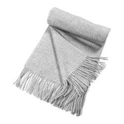 """Kuna - Jet Eco Throw, Perla - Classic  baby alpaca Throw with a sophisticated color pattern and fringes. All natural, undyed Alpaca fibers.  63"""" long x 51"""" wide and 23 ounces."""