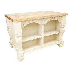 Lyn Design - Lyn Design Tuscan 53 1/2 X 35 1/2 Antique White Kitchen Island - Lyn Design Tuscan 53 1/2 X 35 1/2 Antique White Kitchen Island