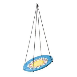 Sunburst Swinging Chair - This swing would have been my favorite as a kid — actually, I think it will still fit me! It's such a fun pick for summer.