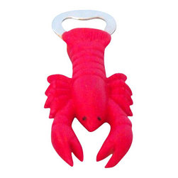 """Handcrafted Model Ships - Decorative Lobster Magnet Bottle Opener 5"""" - Nautical Bottle Opener - This Decorative Lobster Magnet Bottle Opener 5"""" is the perfect addition to any nautical themed kitchen. This lobster magnet will open even the most difficult of bottles with ease. This bottle opener is fully functional and a great gift for a coworker, classmate, friend, or family member."""