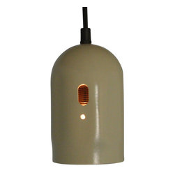 Repurposed White Acetylene Tank Cap Hanging Pendant Light, Blue - Repurposed and painted acetylene tank cap shines light directly below it. It is the perfect pendant light to have hanging over your kitchen sink. It's industrial look has been softened with a fresh coat of paint.