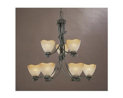 Designers Fountain - Designers Fountain 95689 Nine Light Up Lighting Two Tier Chandelier from the Tim - Features:
