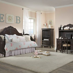 Homelegance Cinderella Day Bed in Dark Cherry Finish - This Cinderella Collection is your little girl's dream.